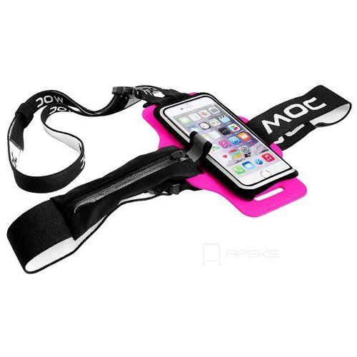 chest plate akcesoria / szelki z rzepem do etui na smartfona / różowe - cerice marki Moc