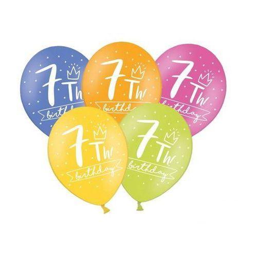 Balony pastelowe my 7th! bday mix kolorów - 30 cm - 5 szt. marki Ap