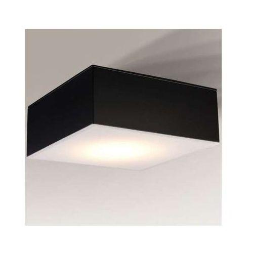 Plafon lampa sufitowa zama 8012/gx53/cz kwadratowa oprawa do łazienki ip44 czarna marki Shilo