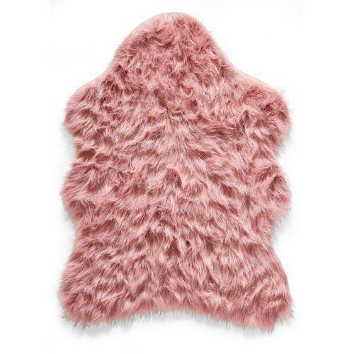 Bonprix Sztuczna skóra owcza różowy