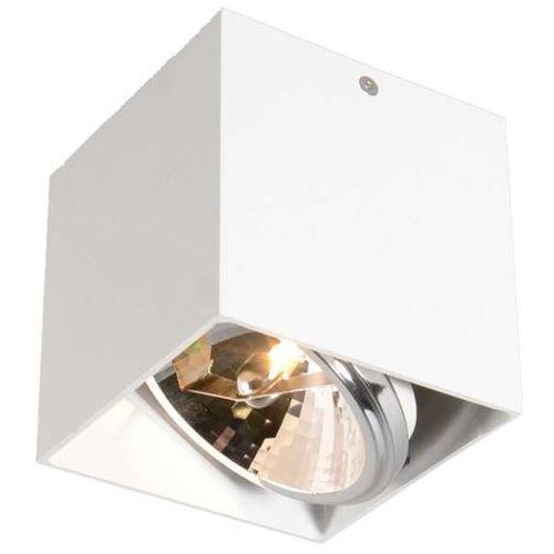 Oczko LAMPA sufitowa BOX SL 1 89947 Zumaline natynkowa OPRAWA metalowa minimalistyczna SPOT biały, 89947