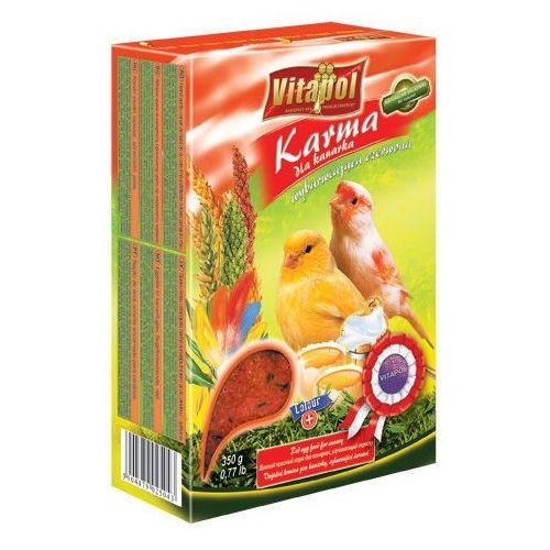 karma wybarwiająca czerwona dla kanarka z jajkiem i beta-karotenem 350g wyprodukowany przez Vitapol
