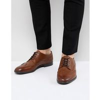 H by hudson aylesbury leather brogues in tan - tan