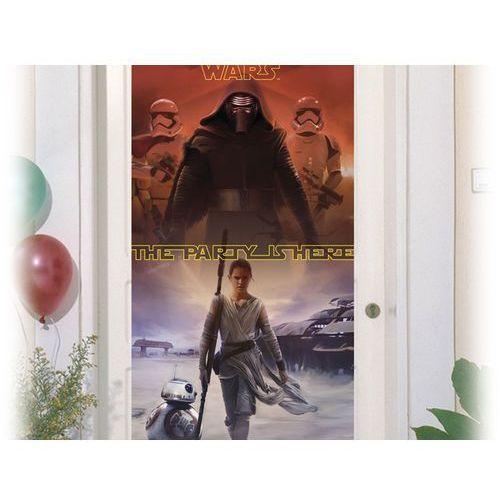 Dekoracja foliowa na drzwi Star Wars - The Force Awakens - 150 x 75 cm - 1 szt. z kategorii dekoracje i ozdoby dla dzieci