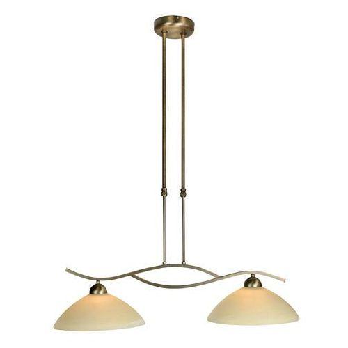 Klasyczna lampa wisząca 2-źródła światła regulowana wysokość brąz - Corsaire