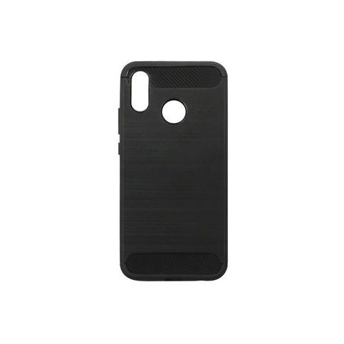 Huawei P20 Lite - etui na telefon Forcell Carbon - czarny, ETHW677CRBNBLK000