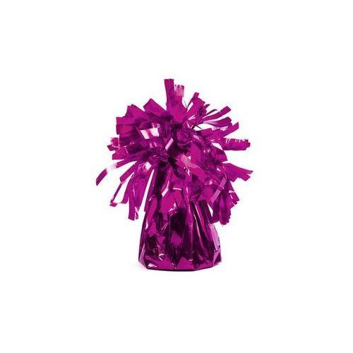 Obciążnik foliowy do balonów napełnionych helem - ciemny różowy - 126 g. marki Party deco