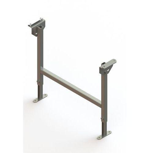 Stojak podwójny, ocynkowany, szer. taśmy 600 mm, zakres regulacji 470 - 750 mm.