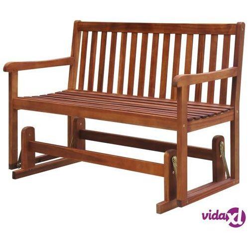 ławka ogrodowa/huśtawka, 125 cm, lite drewno akacjowe marki Vidaxl