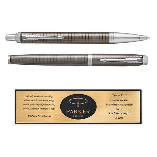Zestaw Parker Pióro Długopis IM Dark Espresso GRAWER