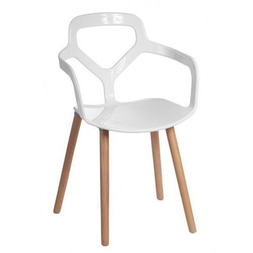 Krzesło Nox Wood białe, kolor biały
