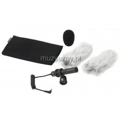 Audio technica pro 24-cmf stereofoniczny mikrofon pojemnościowy do kamer video (osłona deadcat gratis)