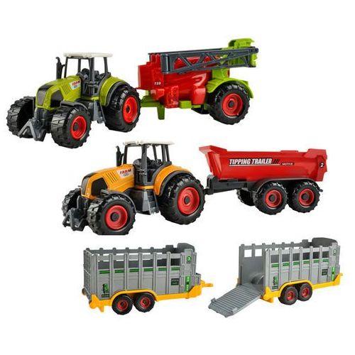 Iso Farma zestaw traktorów maszyn przyczepki samochodziki (5902802907318)