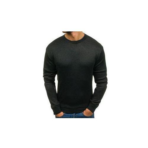 Sweter męski antracytowy denley bm6041, S-west