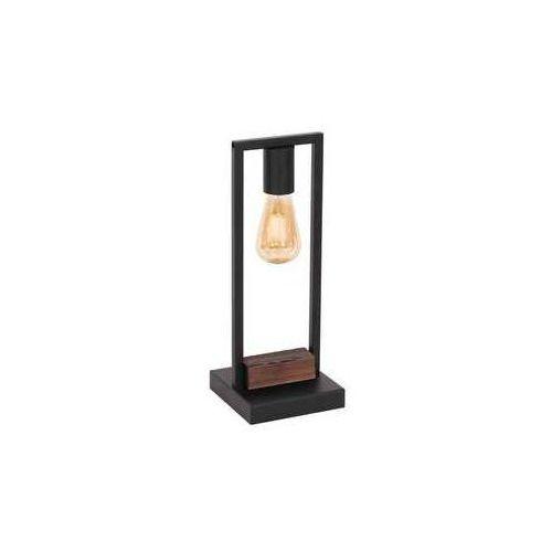 Luminex Hard 667 lampa stołowa lampka 1x60W E27 ciemne drewno czarny (5907812626679)