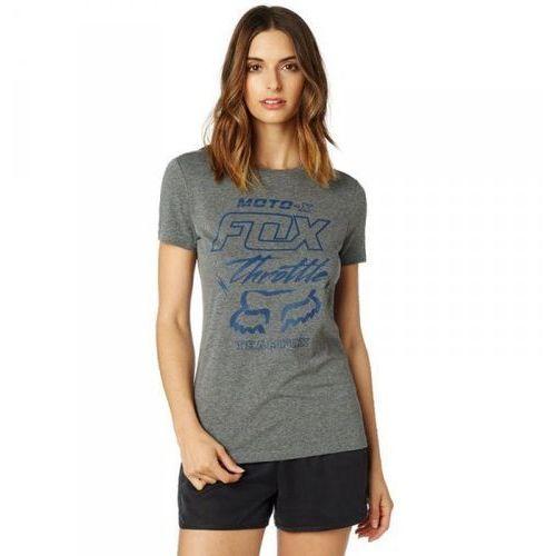 Fox t-shirt lady throttle maniac heather graphite marki Fox_sale