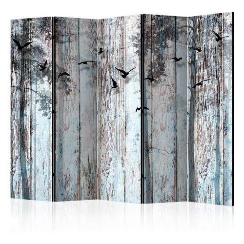 Artgeist Parawan 5-częściowy - rustykalne deski ii [room dividers]
