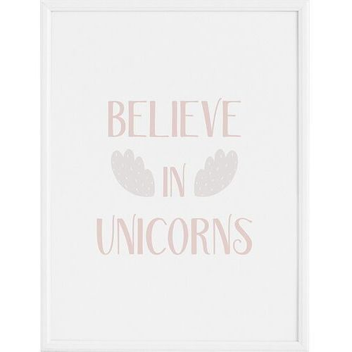 Plakat believe in unicorns 50 x 70 cm marki Follygraph