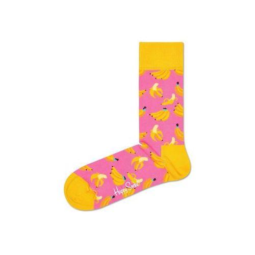 banana skarpetki różowy żółty 36-40 marki Happy socks