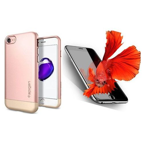 Sgp - spigen / perfect glass Zestaw   spigen sgp style armor rose gold   obudowa + szkło ochronne perfect glass dla modelu apple iphone 7