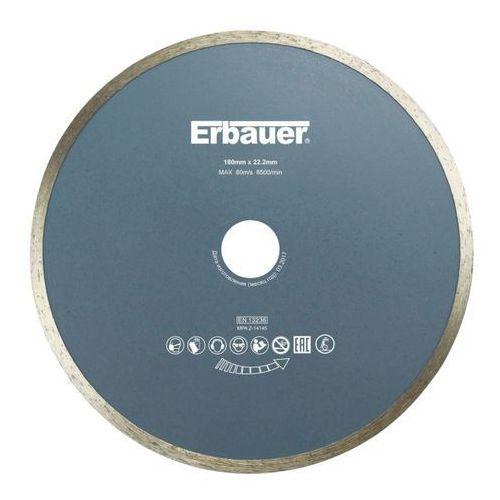 Tarcza diamentowa Erbauer ciągła 180 x 22,2 mm