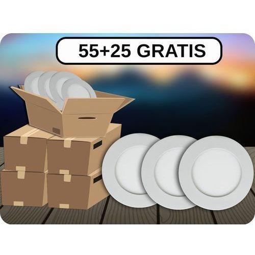 Panel LED 6W (420LM), 55+25 GRATIS! + Bezpłatna natychmiastowa gwarancja wymiany! Ciepła biała 3000K