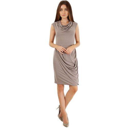 sukienka dziewczęca 40 jasny brąz marki Closet london