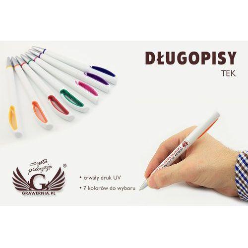 Długopisy plastikowe TEK - druk UV