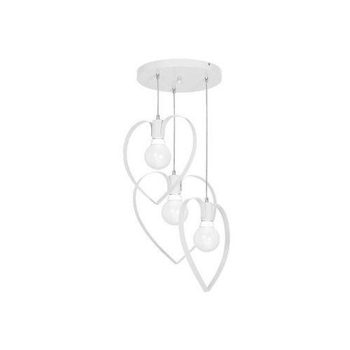 Decoland Dziecięca lampa wisząca love 3xe27/60w/230v biała (5907565999518)