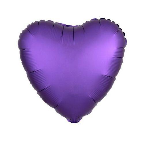 Amscan Balon foliowy serce fioletowe - 43 cm - 1 szt. (0026635368186)