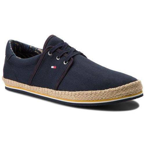 Espadryle - canvas lace up espadrille fm0fm01804 midnight 403 marki Tommy hilfiger