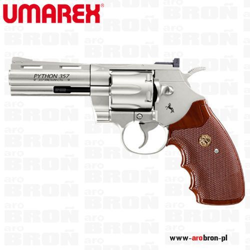 Umarex Wiatrówka rewolwer  colt python 4'' bb 4.46 mm nikiel - 6 strzałowy, kategoria: pistolety