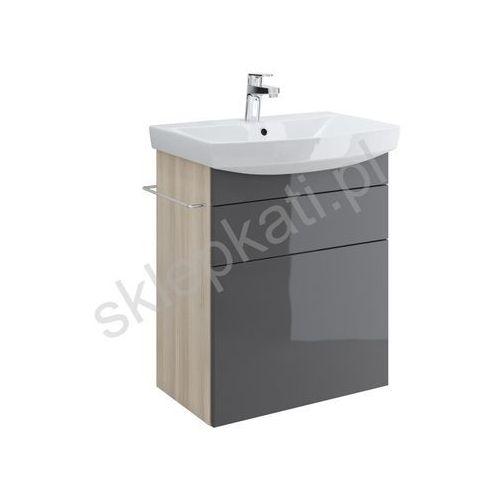CERSANIT SMART Szafka podumywalkowa 60, front szary S568-013, kolor szary