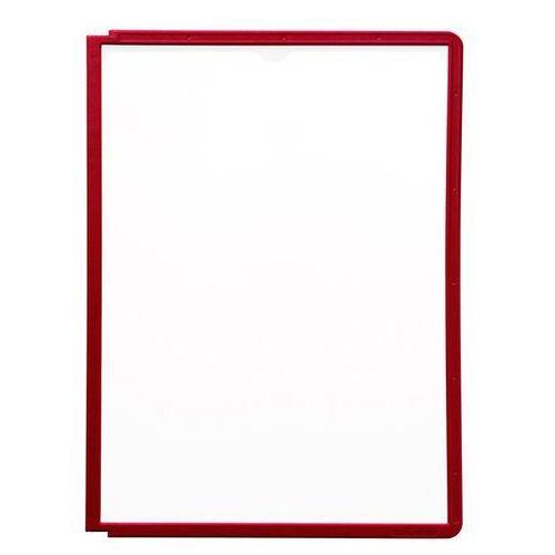 Durable Tablice przezroczyste z ramą profilowaną, do din a4, opak. 10 szt., czerwony. do
