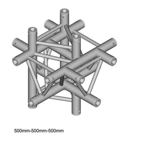 Duratruss dt 33/2-c61-xud x-joint element konstrukcji aluminiowej + góra + dół
