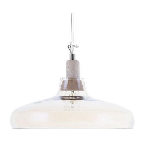 Beliani Lampa wisząca szklana bursztynowa alikos (4260586357806)