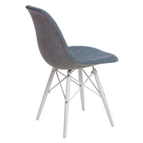 D2design Krzesło p016w duo nieb. szare/white
