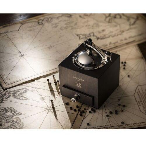 Tradycyjny młynek do pieprzu z korbką d'olivier roellinger czekoladowy (pg-25601) marki Peugeot