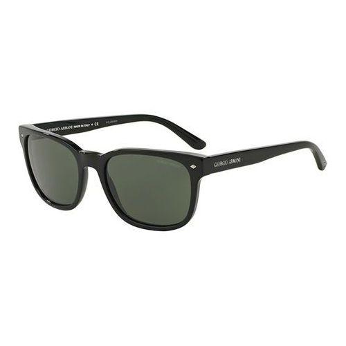 Okulary Słoneczne Giorgio Armani AR8049F Asian Fit Polarized 501758, kolor żółty