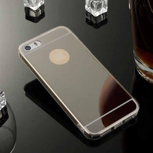 case czarny | etui dla apple iphone 5 / 5s / se - czarny marki Slim mirror