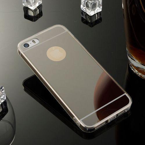 Slim Mirror Case Czarny | Etui dla Apple iPhone 5 / 5S / SE - Czarny, kolor czarny