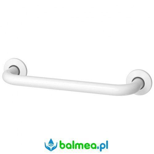 Poręcz prosta dla niepełnosprawnych 300 mm stal węglowa malowana na biało marki Faneco