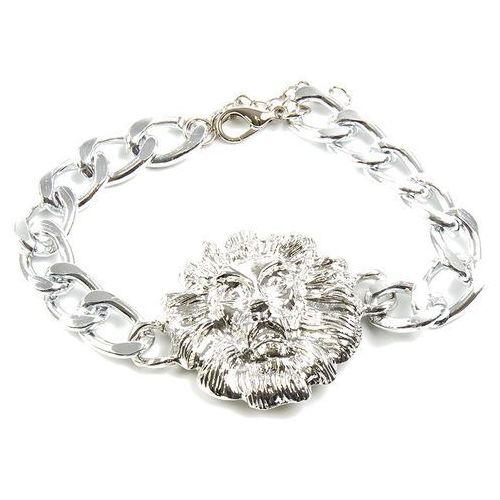 Bransoletka łańcuch z lwem srebrna - srebrna marki Cloe