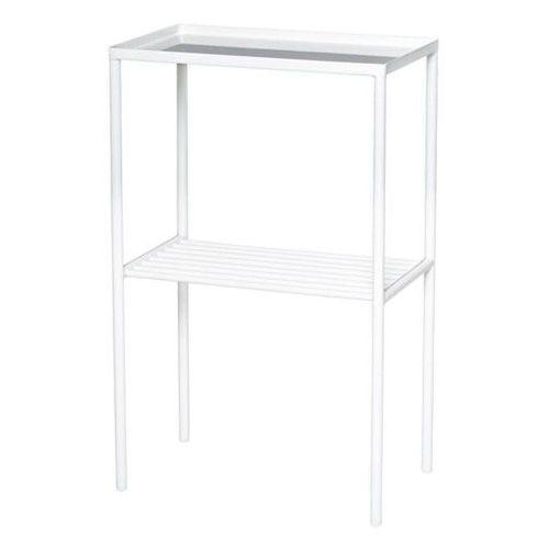 Prostokątny metalowy stolik podręczny, biały - Bloomingville
