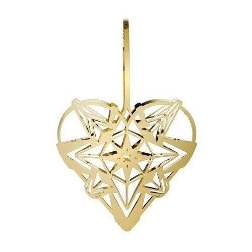 Ozdoba świąteczna serce Karen Blixen, złote, 25 cm - Rosendahl (5709513323518)