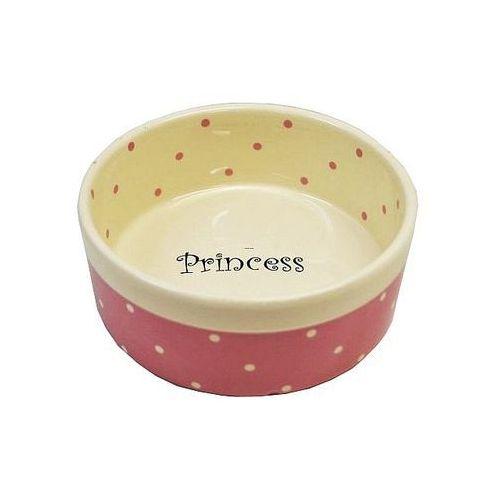 Yarro /moderna miska ceramiczna princess różowa 13x5,5cm [y2722] (5901436127222)