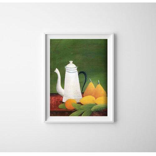 Plakat w stylu vintage plakat w stylu vintage martwa natura z czajnikiem i owocami henri rosseau marki Vintageposteria.pl