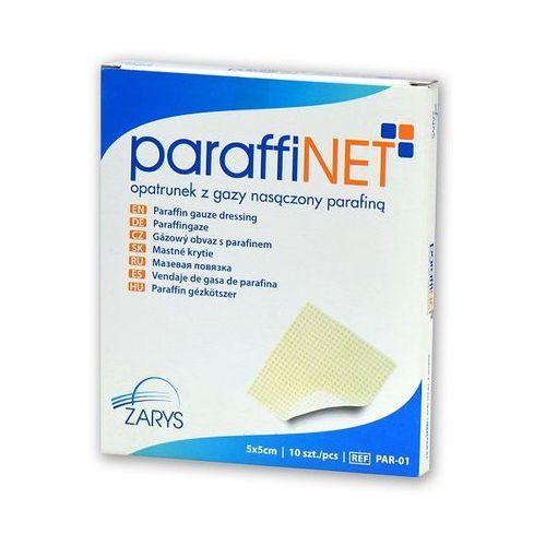 Zarys Paraffinet opatrunek z gazy nasączony parafiną 5x5cm 10szt.
