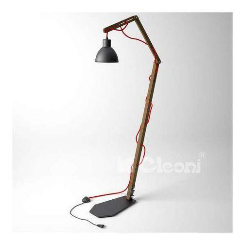 Stojąca LAMPA podłogowa SPIDER 1325KS1/E/305/kolor Cleoni skandynawska OPRAWA do salonu drewno loft, 1325KS1/E/305/kolor