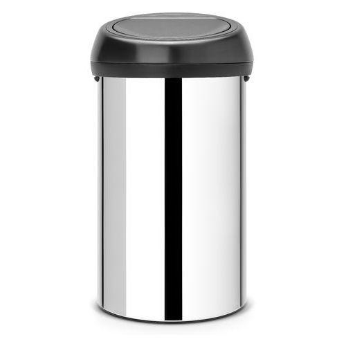 Kosz Brabantia Touch Bin 60l stalowy połysk czarna pokrywa, 40 25 86